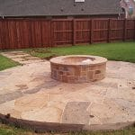 fire pit landscaping stone patio