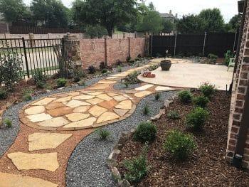 landscaping stone walkway gravel